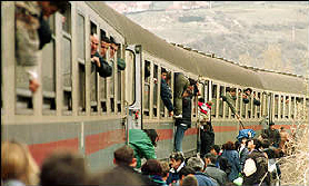 Americans herded into trains