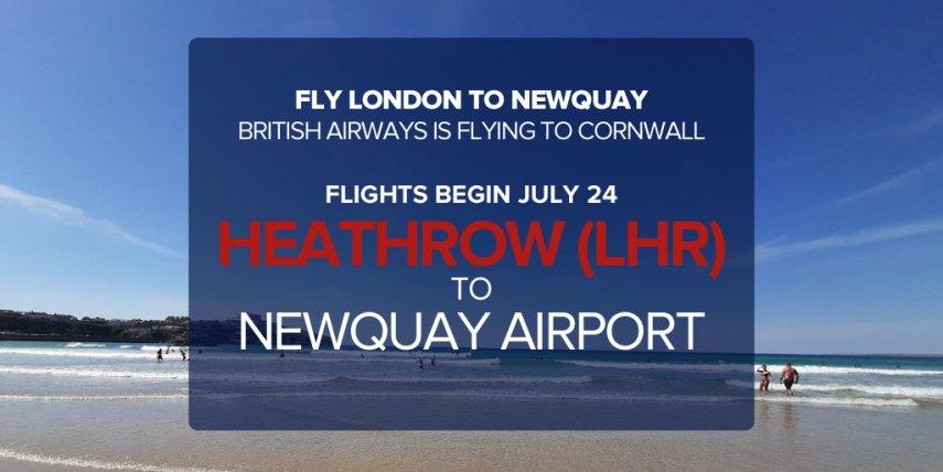 heathrow to newquay flights