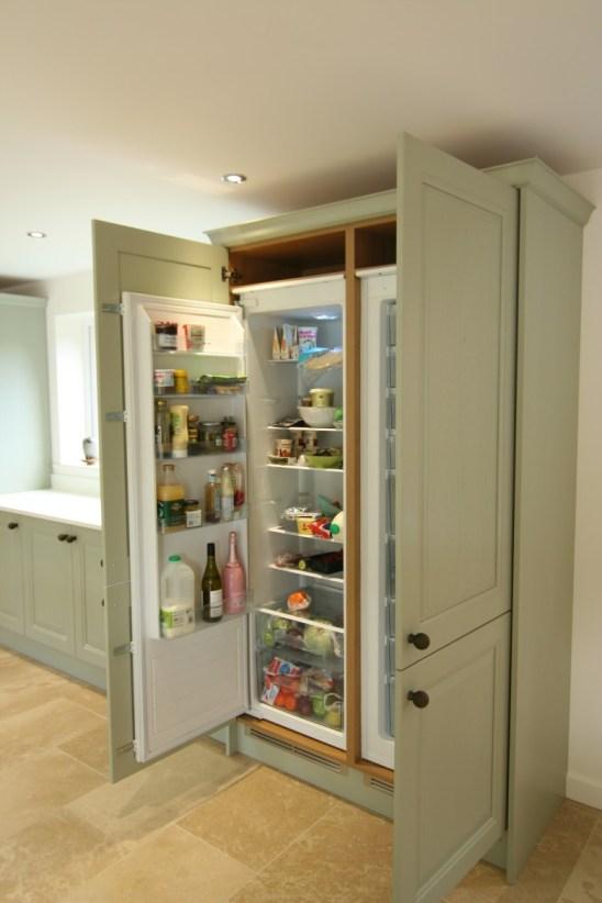 Jefferson sage - Integrated larder fridge and freezer