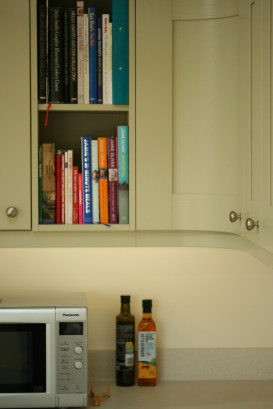 Curved painted timber cupboard