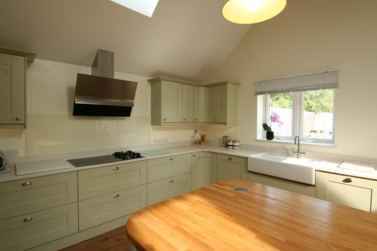 Shaker style painted timber in sage