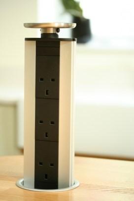 Popup socket for worktop