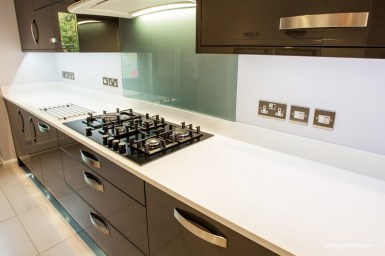 Bosch gas hob in black glass