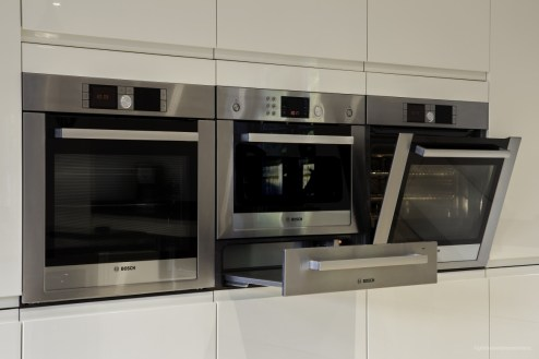 Bosch ovens in brushed steel