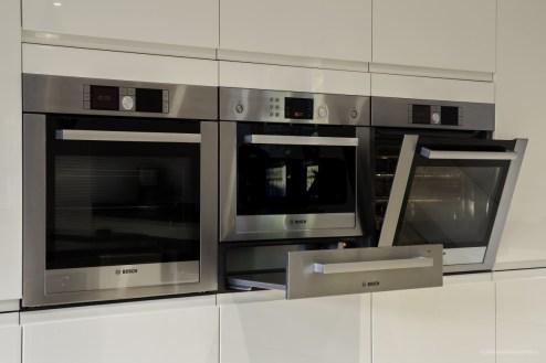 Bosch ovens in brushed steel