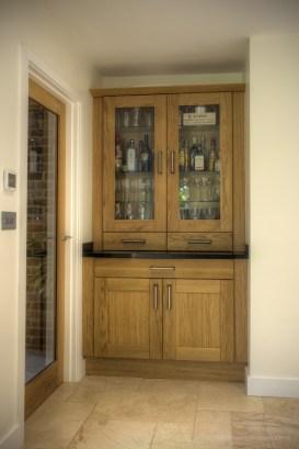 Feature oak dresser unit