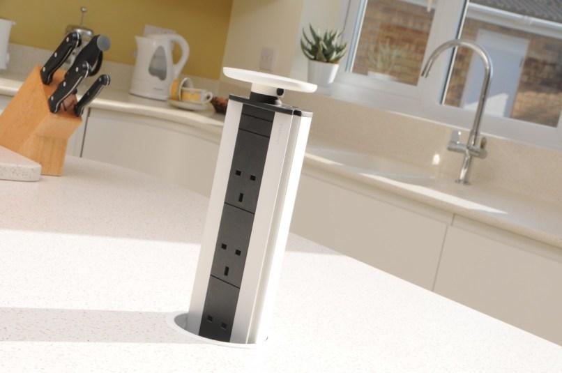 Evoline Pop-up Socket in Mistral Worktop