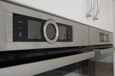 Bosch Single Oven in Black Glass and Brushed Steel
