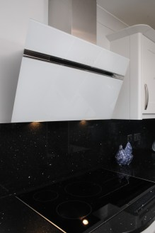 Elica Ascent Extractor Hood in white glass