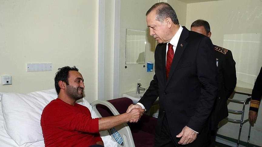Эрдоган посетил раненых военнослужащих
