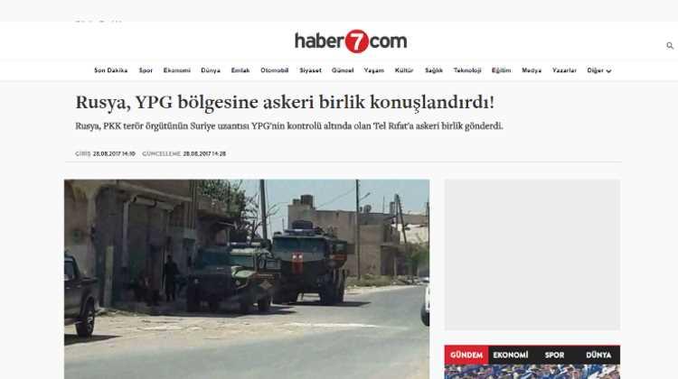 Россия разместила войска в районе YPG