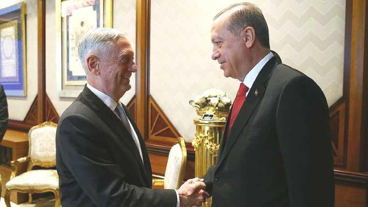 Эрдоган принял главу Минобороны США