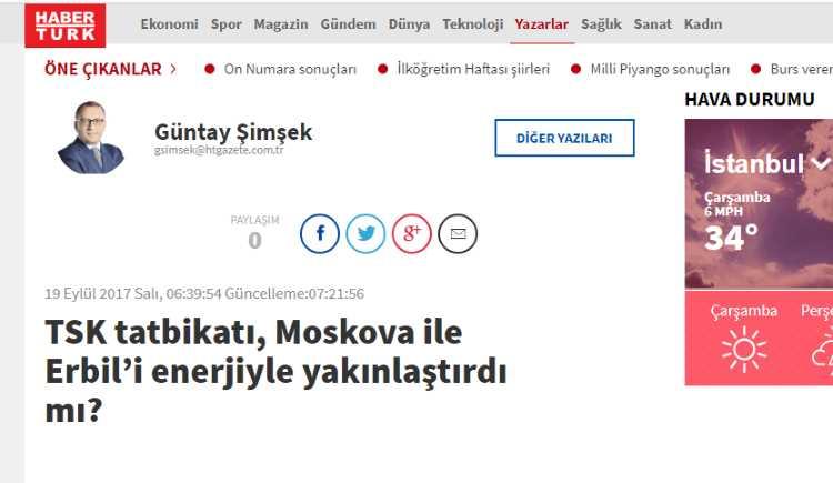 Учения ВС Турции сблизили Москву и Эрбиль в энергетике?
