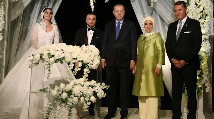 Жених и невеста — звезды, свидетели — президенты