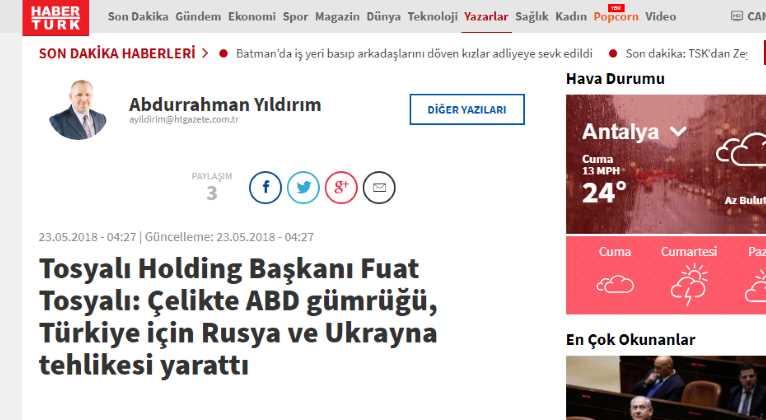 США создали для Турции риски со стороны России и Украины