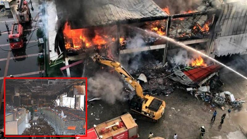 Торговый центр в Батмане превратился в пепел
