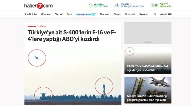 То, что сделали турецкие С-400 с F-16 и F-4, разозлило США