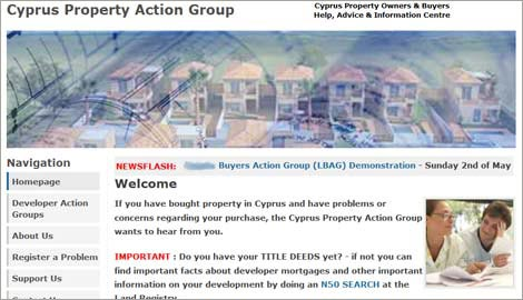 Cyprus Property Action Group website