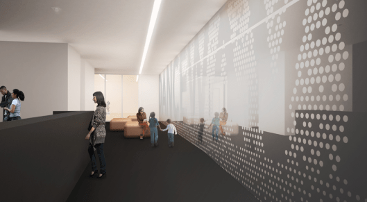 Reception area render