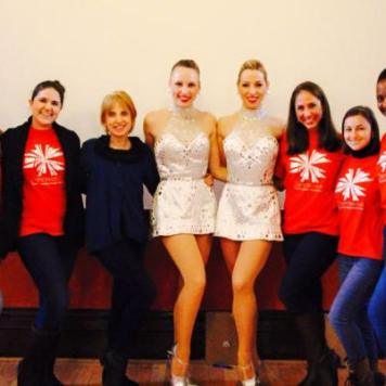 Dancewave team with the Rockettes