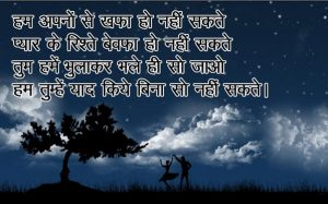 Good Night Shayari in Hindi for Friends