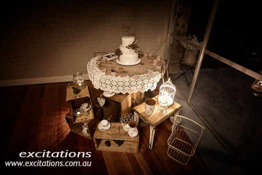 Reception decorations at Broken Hill wedding. Photo by excitations Mildura photographer