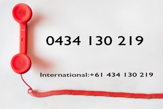 Graphic of red phone and Excitations phone number. Excitations Mildura