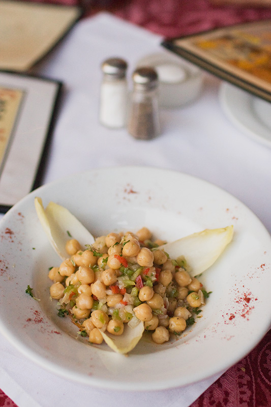 garbanzo bean salad cold tapas photograhed by Jackie Alpers