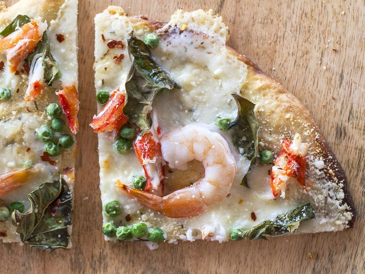 seafood pizza by Jackie Alpers