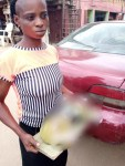 Woman arrested for killing her one month baby; blames her baby daddy (photo)