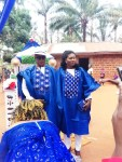 Nigerian couple wears matching Agbada for their traditional wedding