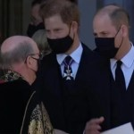 Prince Harry's heartwarming comment to William after Philip's funeral picked up by lip reader