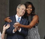 George Bush says he was 'shocked' by people's reaction to his friendship with Michelle Obama