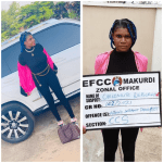 Nigerian lady arrested by EFCC for internet fraud shortly after welcoming new month with 'stunning' photos