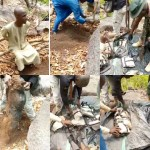 Suspected kidnapper takes security agents to location where he buries the weapons he and his gang members use for their operations (video)