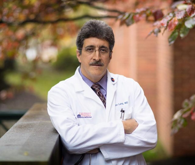 Dr Max Luna Founded The Latino Health Initiative Last Year To Serve The Local Latino Community Photo By Dan Addison University Communications