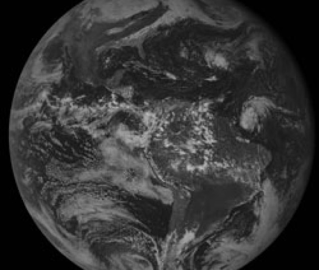 This View Of The Western Hemisphere Taken Oct   Captures The Large Mid Latitude Storm That As It Intensified Over The Great Lakes