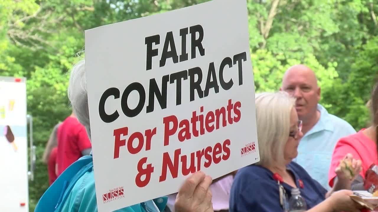 Albany Med nurses rallied for a fair contract