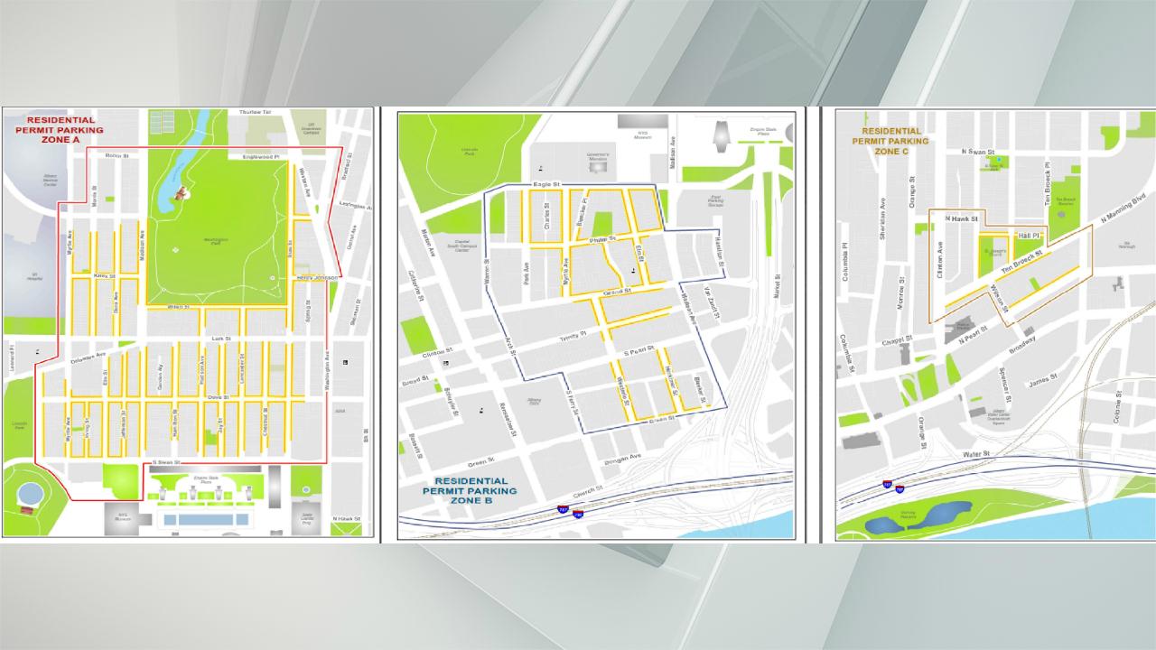 Albany parking zones