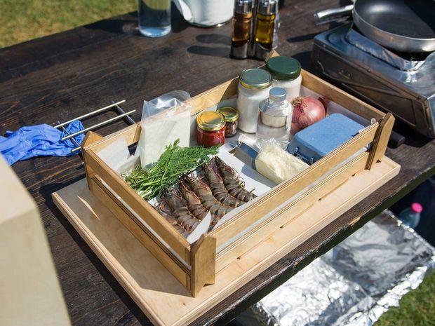 Η πρώτη δοκιμασία για τις μικρές μαγείρισσες, είχε γαρίδες