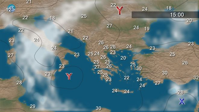 Αίθριος ο καιρός τη Δευτέρα σε όλη τη χώρα - Άνεμοι έως 5 μποφόρ στο Αιγαίο