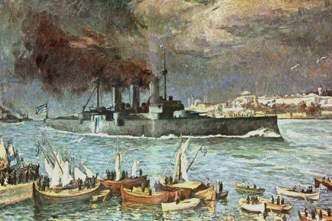 Θωρηκτό Αβέρωφ: 100 χρόνια από την ημέρα που ύψωσε την ελληνική σημαία στην Κωνσταντινούπολη