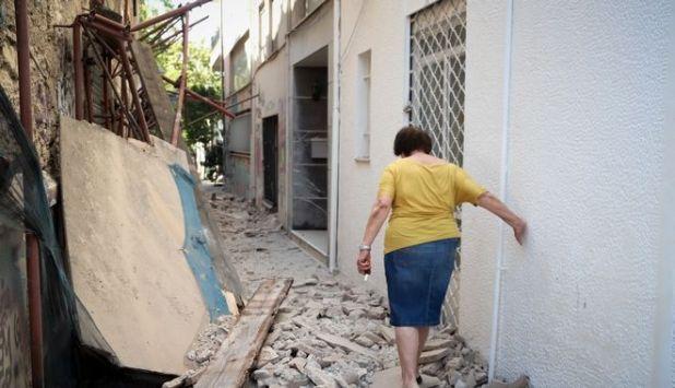 Υλικές ζημιές από τον σεισμό στην Αθήνα
