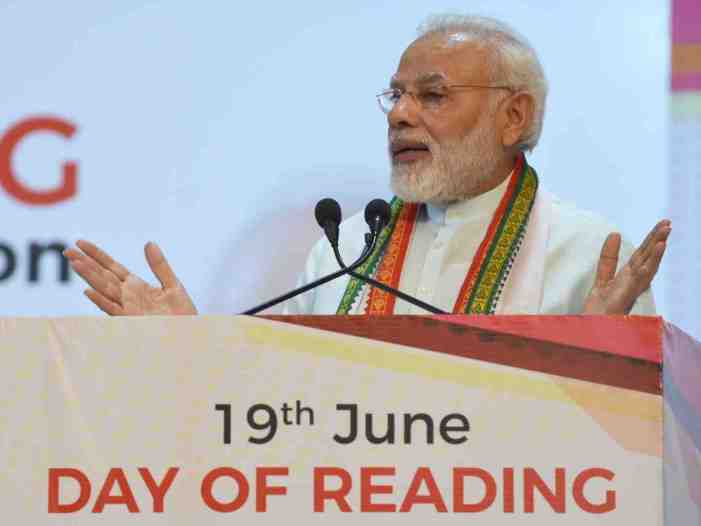 PM Modi's new mantra: Give book instead of a bouquet