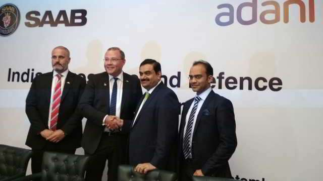 Make in India competition: Saab to tie up with Adani Group to build fighter jets
