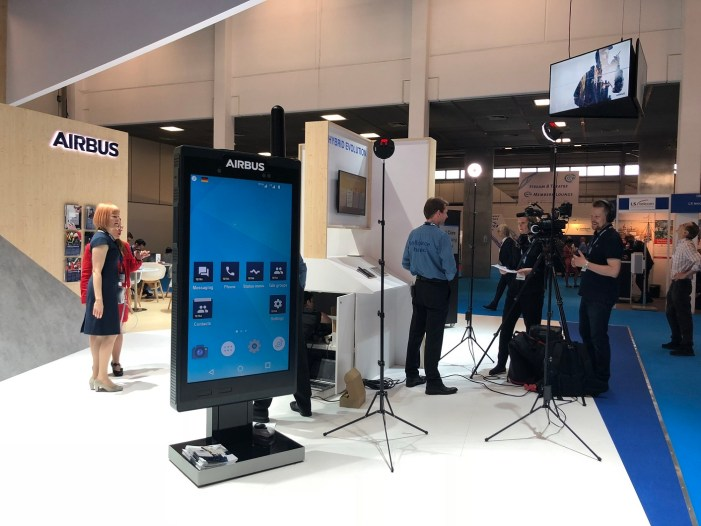 """Airbus turns up with """"Intelligence Shared"""" at the Critical Communications World exhibition in Berlin"""