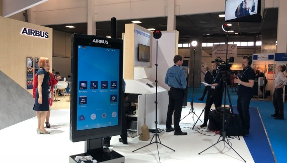 "Airbus turns up with ""Intelligence Shared"" at the Critical Communications World exhibition in Berlin"