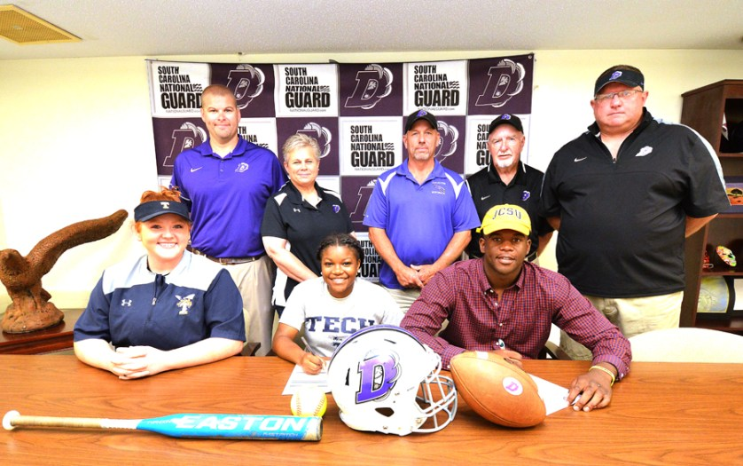 Darlington High's Williams and Turner sign athletic letters of intent