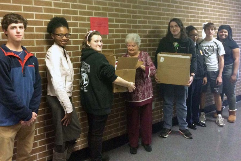 Lamar High Beta Club donates to Carolina's Kids Clothing Closet