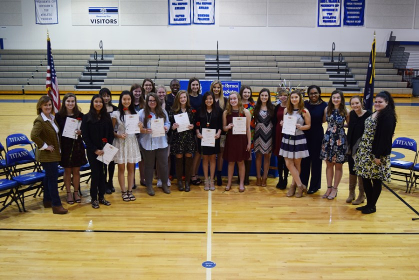 Trinity-Byrnes National Art Honor Society induction